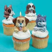 Party Dog Topper Candles for Cakes and Cupcakes!