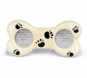 Paw Prints Ceramic Bone Shaped Picture Frame!