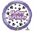 Paw Print Happy Birthday Balloon!