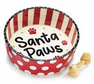 Christmas Dog or Cat Pet Dish - Santa Paws!
