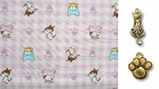 Pink Gingham Cats - CAT  Bandana or Scarf