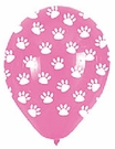White Paw Prints on Pink Balloon!