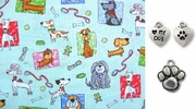 Playful and Poised Robert Kaufman  DOG Bandana or Scarf