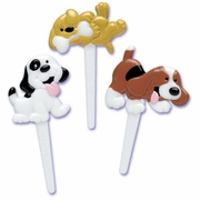 Puffy Dog Cupcake Picks!