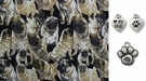 PUG Dog Fabric Print DOG Bandana or Scarf