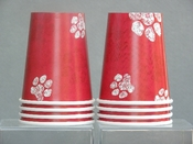 Red Paw Print Cups