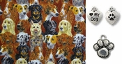 Regal Heads of Dogs DOG Bandana or Scarf