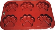 Six Cavity Large Paw Silicon Baking and Mold Pan!