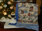 Snow Day DOG Themed  Christmas Table Runner