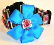 <center> Stripes and Flowers Dog FabuCollar® </center>