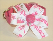 <centenr> Sweet Princess with Silver Dog Collar and Princess Bow! </center>