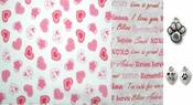 Valentine Candy Hearts and Love DOG or CAT Bandana or Scarf