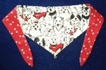 Valentine Groovy Love DOG Bandana or Scarf