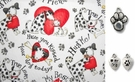 Valentine Love and Doggy Kisses DOG Bandana or Scarf