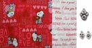 Valentine Snoopy Love and Kisses DOG Bandana or Scarf