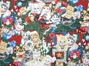 Victorian Christmas CAT Themed Table Runner