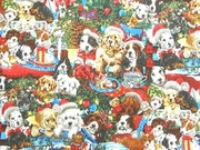 Victorian Christmas DOG Themed Table Runner
