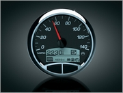 Medallion RACING BLACK Console Gauge