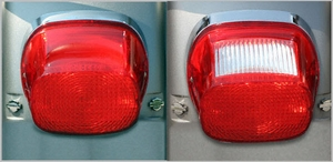 Red Squareback LED Tail Light for HD Models 99 - 09