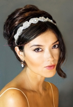 Sophia: RhinestoneSwirl Beaded Head Wrap 111v