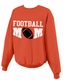 Custom Football Mom Crewneck Sweatshirt