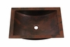 Copper Vanity Sink Trough 21x15x4.5