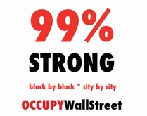 Activist Special! 99% Strong Occupy Wall Street T-Shirt Only $4!