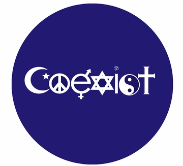 Coexist Button- In 3 Sizes - Choose Your Color!