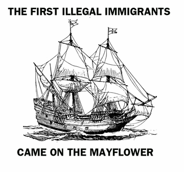 Immigrants on the Mayflower T-shirt