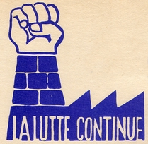La Lutte Continue - Paris May 1968 Street Poster T-Shirt
