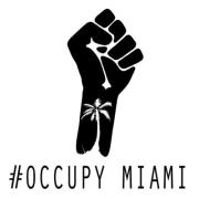 Occupy Miami Fist Logo T-Shirt