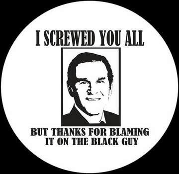 Thanks For Blaming The Black Guy  Button