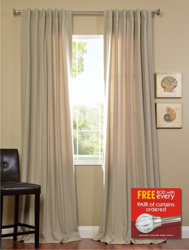 2-1 Cobblestone Cotenza Curtain 50 x 108 + FREE ROD SET