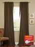 2-1 Cocoa Cotenza Curtain 50 x 108 + FREE ROD SET