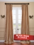 2-1 Coral Silk Taffeta Stripe Pole Pocket Curtain 50 x 108