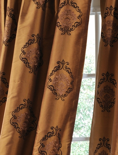 JUST ADDED: 2-1 Pole Pocket Taj Mahal Silk Curtain 50 x 108