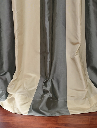 2-1 Nob Hill Stripe Silk Curtain 50 x 108 **Enter Qty 1 For 2 Panels, 2 For 4 etc