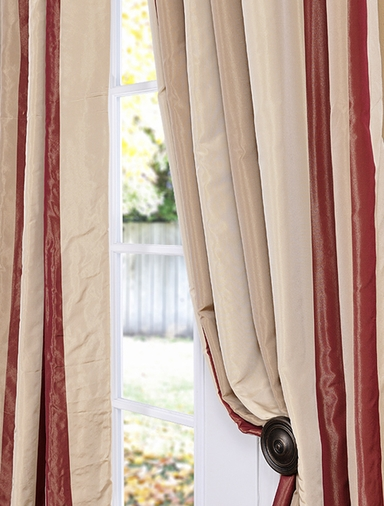 2-1 French Pleat Manchester Faux Silk Taffeta Curtain 25x 96