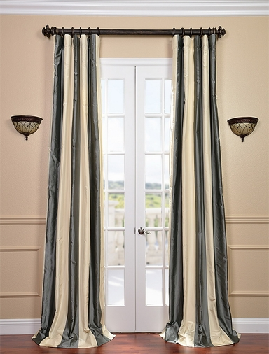 2-1 Nob Hill Stripe Silk Curtain 50 x 120 **Enter Qty 1 For 2 Panels, 2 For 4 etc
