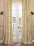 JUST ADDED: 2-1 French Pleat Maplewood Textured Dupioni Silk Curtain 25 x 96