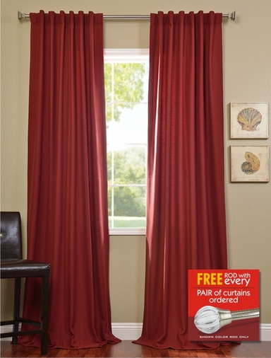 2-1 Salsa Cotenza Curtain 50 x 108 + FREE ROD SET