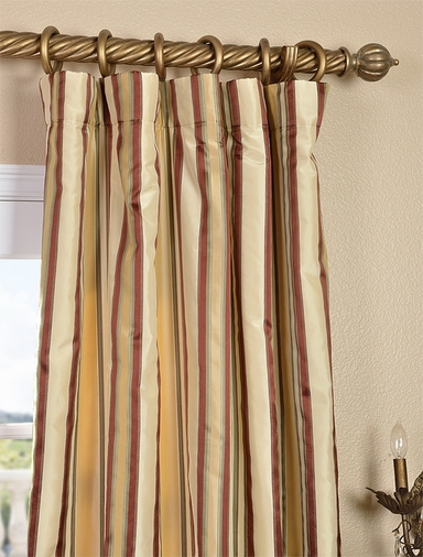2-1 Toscano Silk Stripe Curtain 50 x 96 **Enter Qty 1 For 2 Panels, 2 For 4 etc