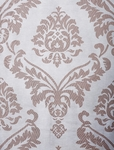 Agatha Taupe Gray Patterned Sheer Swatch