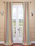 Ambrosia Stripe Blackout Back-Tab Pole Pocket Curtain