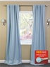 2-1 Aqua Polka Dot Blackout Curtain 50 x 96, 108, 120 + FREE ROD SET