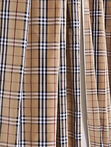 Bogart Silk Taffeta Plaid Swatch