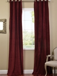 Burgundy Grommet Velvet Blackout Curtain