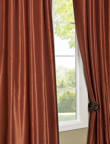 Curtains With Valance For Living Room Faux Dupioni Silk Curtains