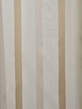 Carlton Cre�me Linen Blend Stripe Sheer Swatch