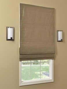 Casual Textured Dupioni Silk Roman Shades